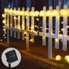 Chaîne solaire lumières lanterne boule 20/30LED lampe solaire noël fée lumières pour fête vacances décoration de jardin en plein air