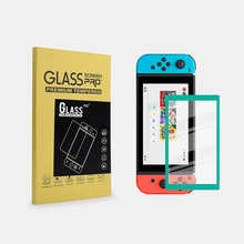 9H Clear Anti-fingerprints Colorful Frame Screen Protector For NS Switch Console Tempered Glass Film For Nintend Switch Lite