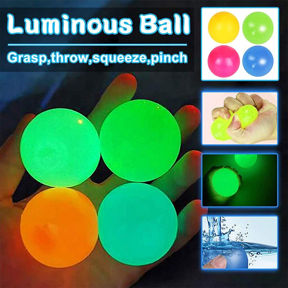 Новинка, настенный мяч-держатель 45 мм, мяч для снятия стресса, мяч-сквош, мяч-сквош, игрушки для декомпрессии, клейкая мишень, мяч-светильник ...