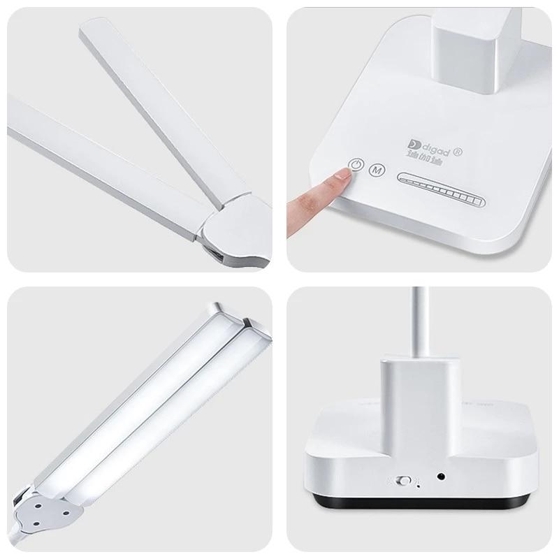 4000 mAh LED Table Lamp USB Charging Living Room Desk Lamp Eye Protection Adjustable Brightness LED Lamp For Home Night Lights