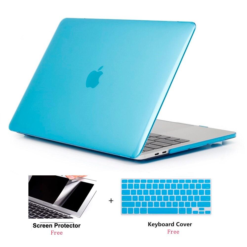 Para nuevo MacBook 13Air A1932 funda dura transparente para Apple Macbook Air Pro Retina barra táctil 11 12 13 15 16 pulgadas A2141