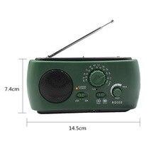 Am/fm gerador de emergência, carregador de lanterna e manivela manual multifuncional dínamo de rádio