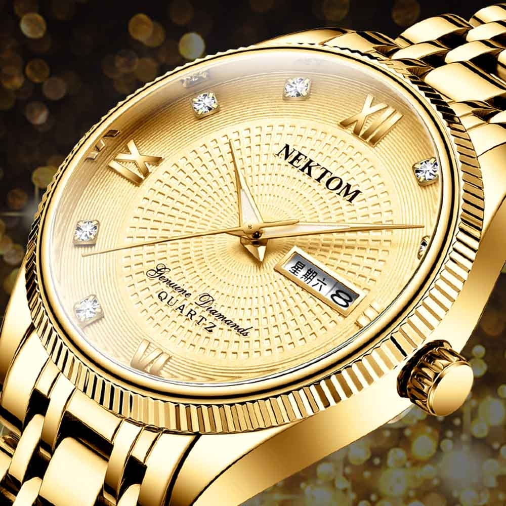 New Men Watches Business Quartz Watch Mens Stainless Steel Band 30M Waterproof Date Wristwatches Relogio Masculino Gift for