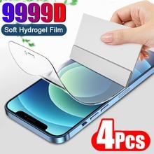 4PCS Full Coverage Hydrogel Film Screen Protector For iPhone 11 12 13 Pro Mini Screen Protector For iPhone X XS MAX XR 7 8 Plus