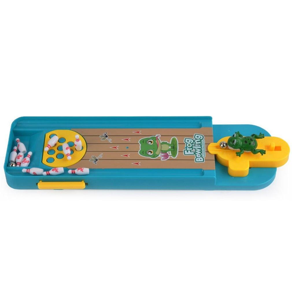 Деревянные Мини боулинг и лягушка Боулинг детские развивающие игрушки Мини боулинг для детей и родителей интерактивная игра для настольно...