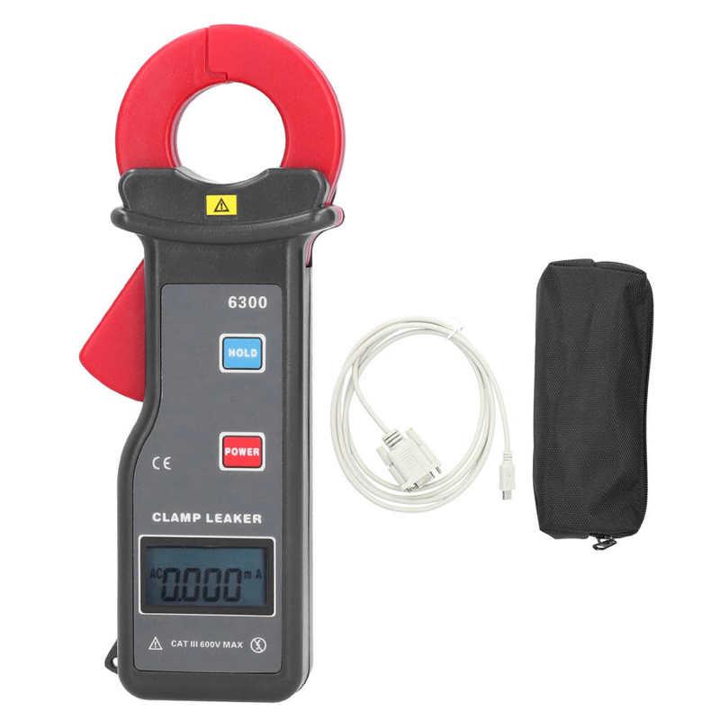ETCR-6300 profesjonalny zacisk av miernik prądu upływu o wysokiej dokładności 0mA-60A z miernikiem cęgowym interfejsu RS232