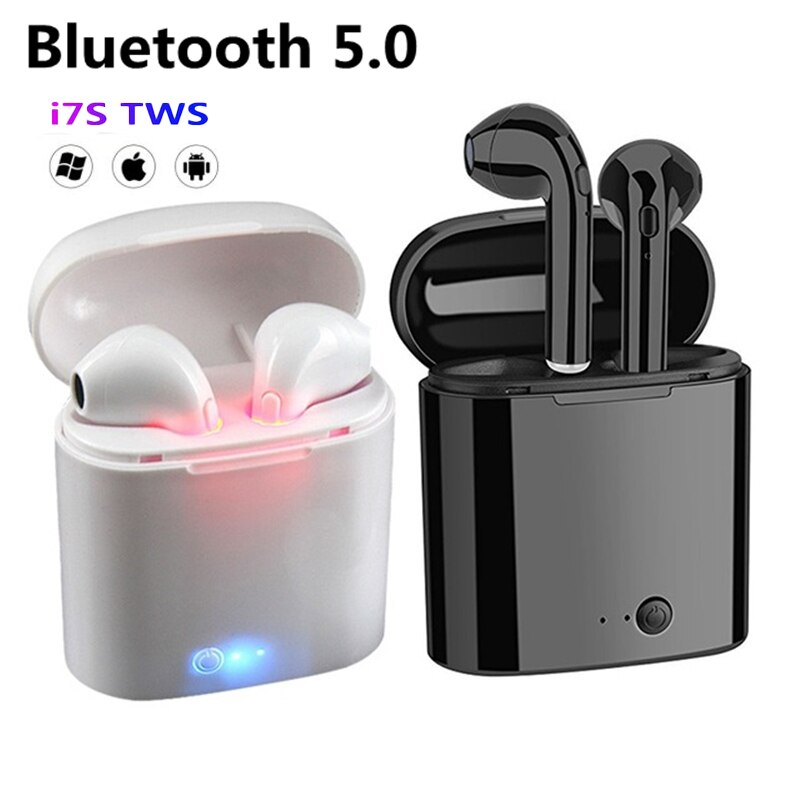 I7s TWS Bluetooth Earphone wireless Earbuds For All Smart Phone Sport Headphones Stereo Headphones Charging compartment headset t18 tws bluetooth new private model headset 5 0 wireless dual earphone mini bluetooth headset with charging compartment