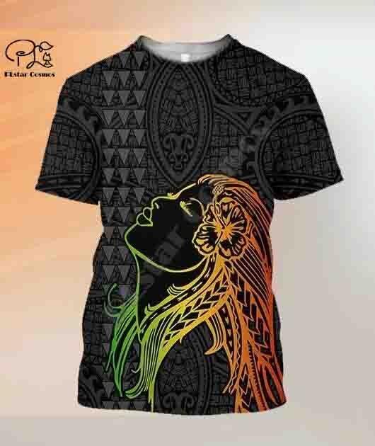 PLstar Cosmos 3DPrint Kanaka Polynesian Tribal cultura del país Harajuku Streetwear nativo Unisex camisetas divertidas de manga corta-b1