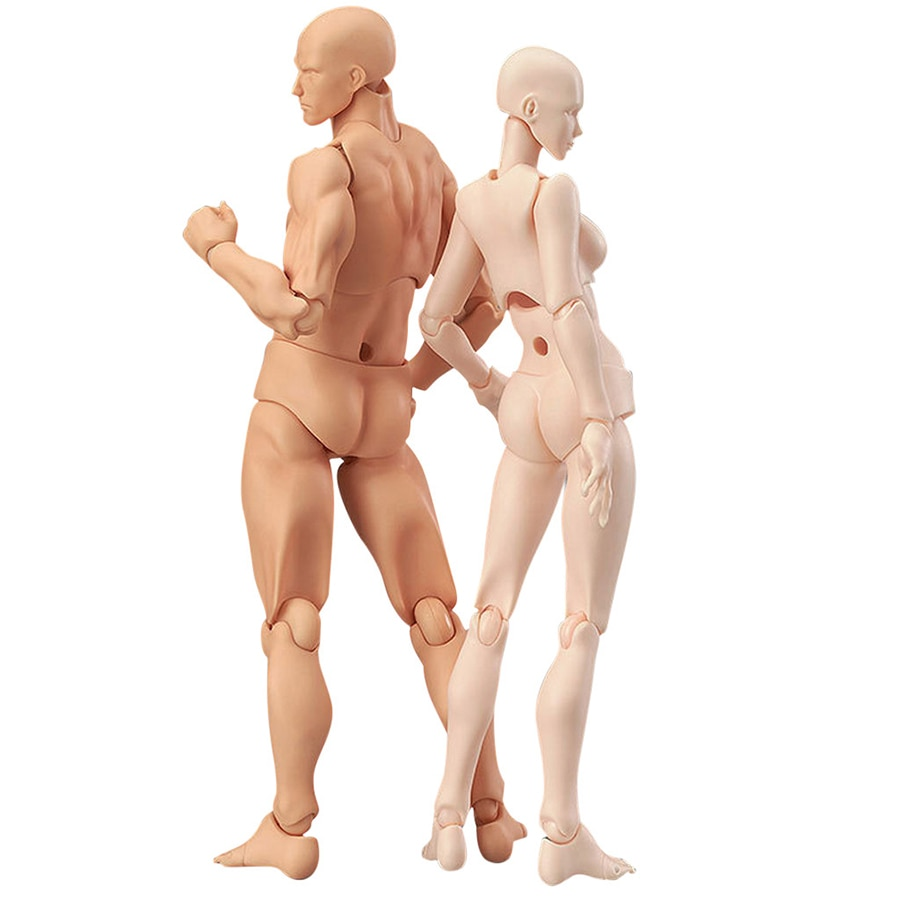 1 Set Drawing Figures For Artists Action Figure Model Human Mannequin Man and Woman Set Action Toy Figure Anime Figure Figurine kensuke okabayashi figure drawing for dummies