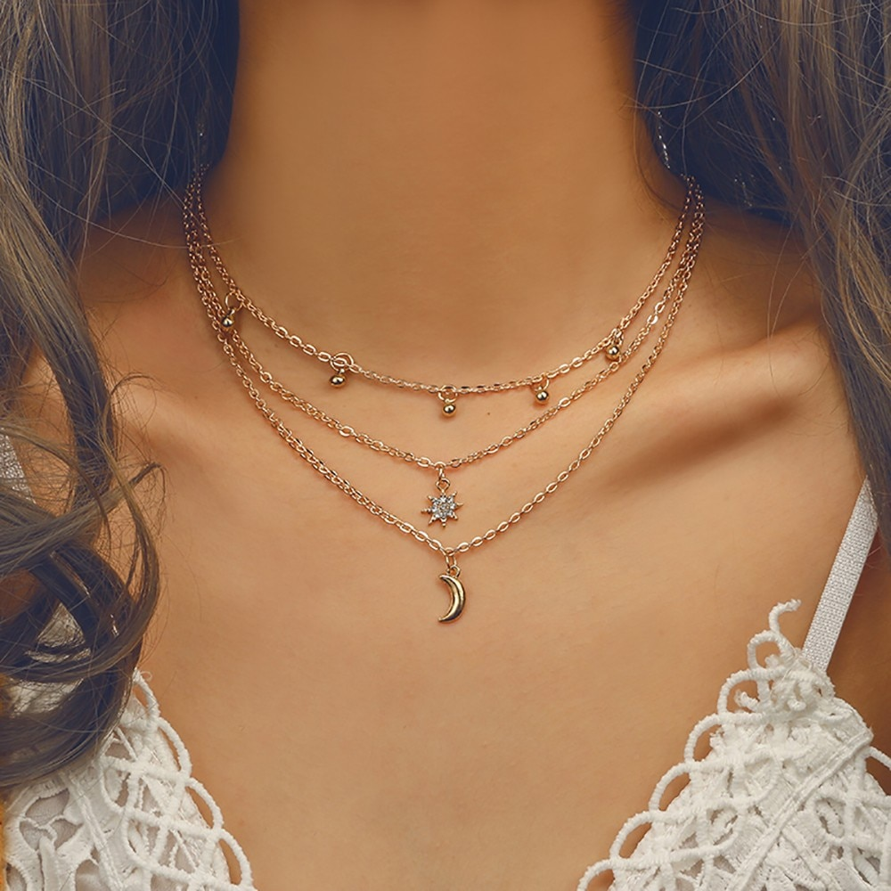 Women Clothing Accessories Necklace Convenient Collocation Collarbone Chain Exquisite product Fast D