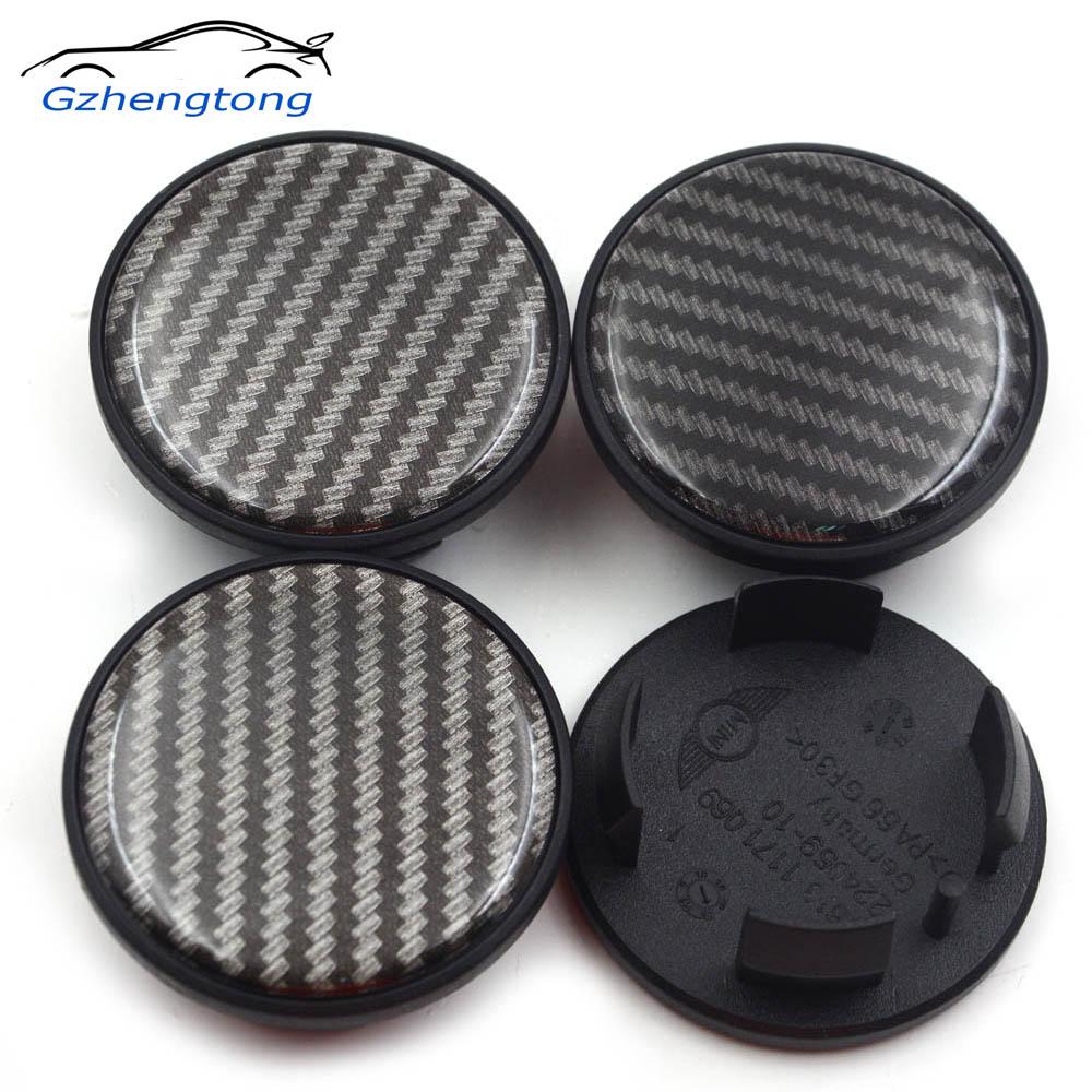 Gzhengtong 4pc 54mm listra centro da roda tampas para mini cooper um + s countryman r55 r56 r60 f55 f56 estilo do carro
