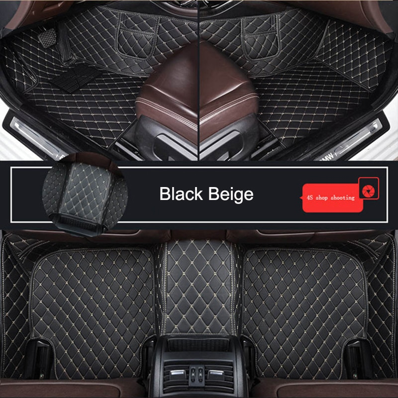 Durable Leather Customized Car Floor Mat for VW GOLF CC T-ROC Bora EOS UP Caddy Polo Jetta New Beetle Passat Car Accessories enlarge