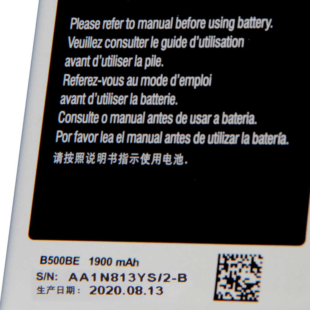 Original Samsung Battery B500BE B500AE For Samsung GALAXY S4 Mini I9190 I9192 I9195 I9198 S4Mini Battery With NFC 4Pins 1900mAh enlarge