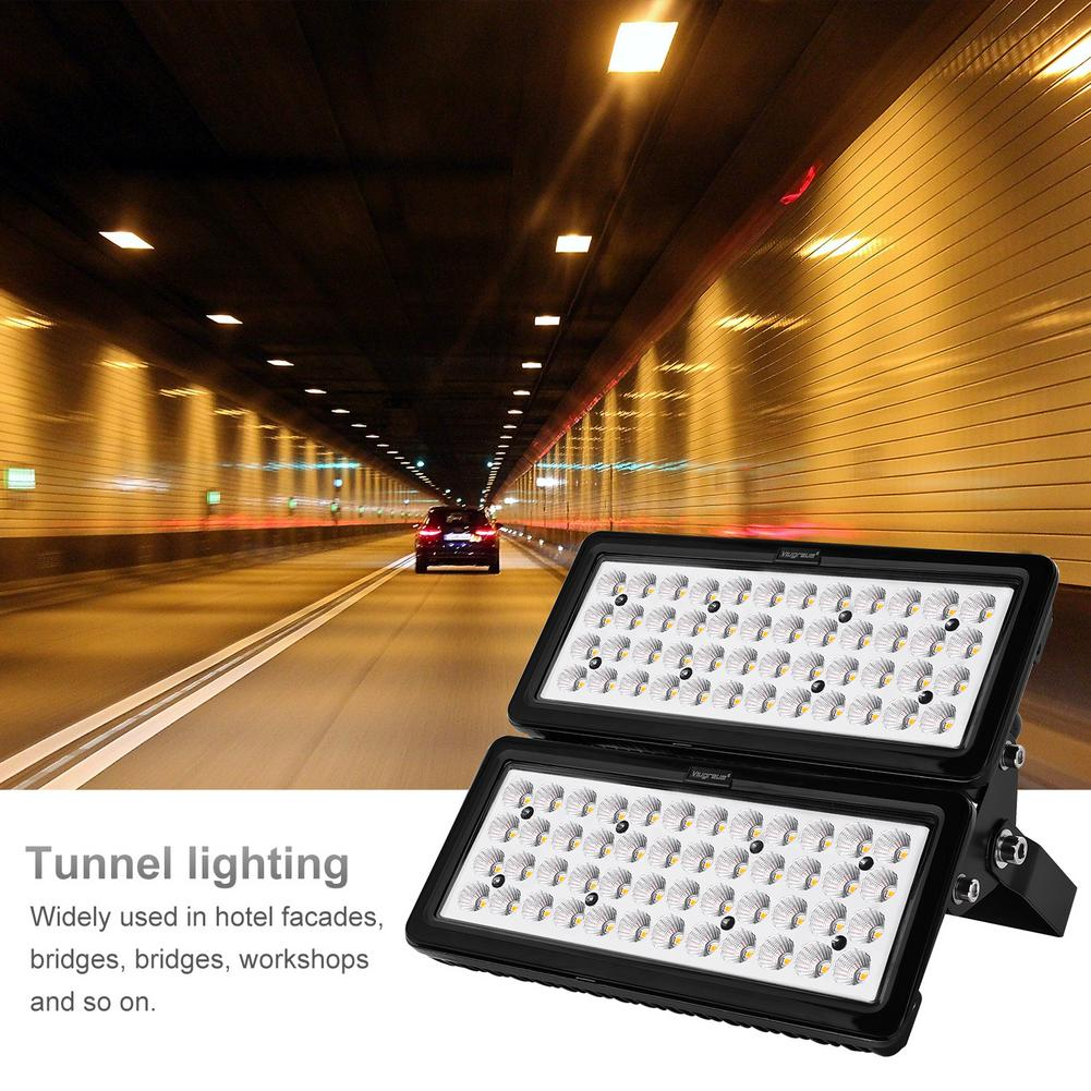 100W módulo Luz de inundación blanco cálido 220V seguridad iluminación exterior impermeable ahorro de energía efecto de disipación de calor Superior