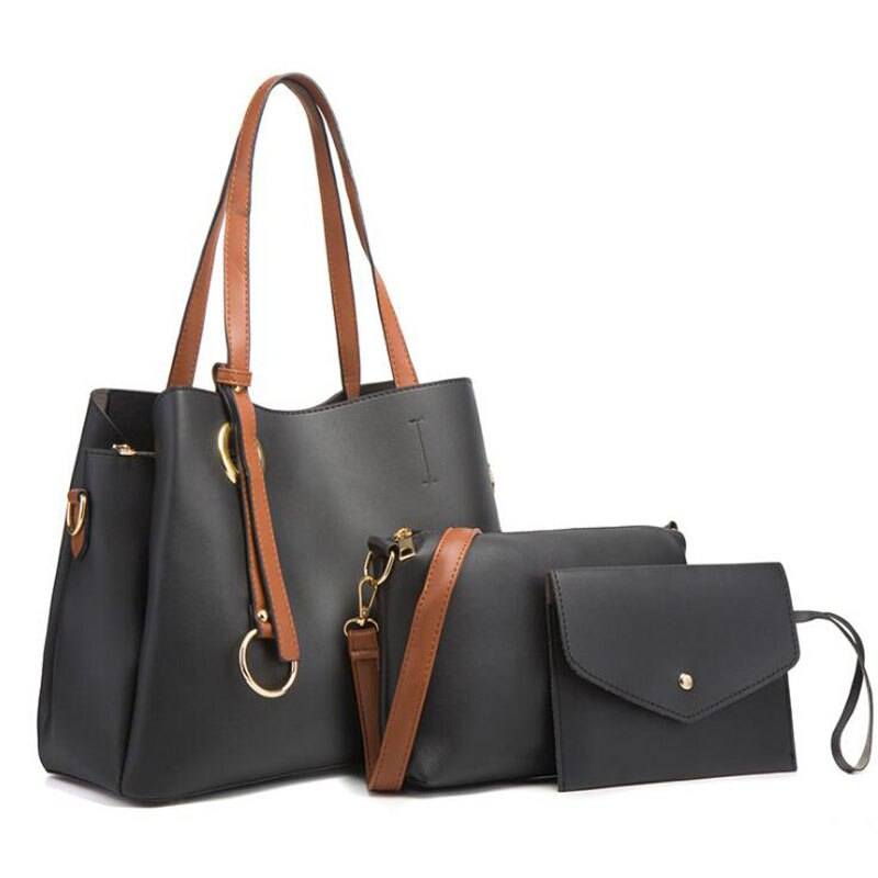 mengxilu brand 3 pcs set crocodile bag women pu leather shoulder bags female scarf top handle bag casual tote purse card bags Women Top-Handle Bags Female Composite Bags Women Messenger Bags Handbag Set PU Leather Wallets Key Bag Set