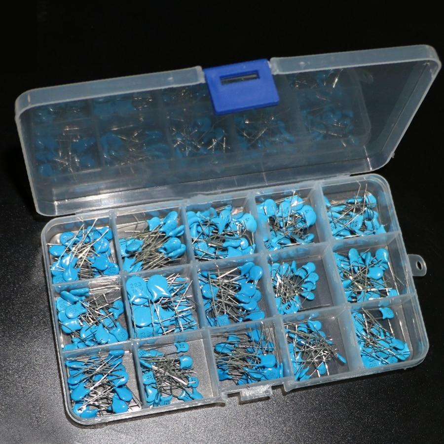 Фото - Высоковольтные керамические конденсаторы комплект конденсаторов, 15 значений по 20 шт. в ассортименте, 1 нФ 2,2 НФ 10 нФ 22 НФ 0,47 НФ 0,56 НФ-10 нФ раковина цвет и стиль фридом нф 00008314