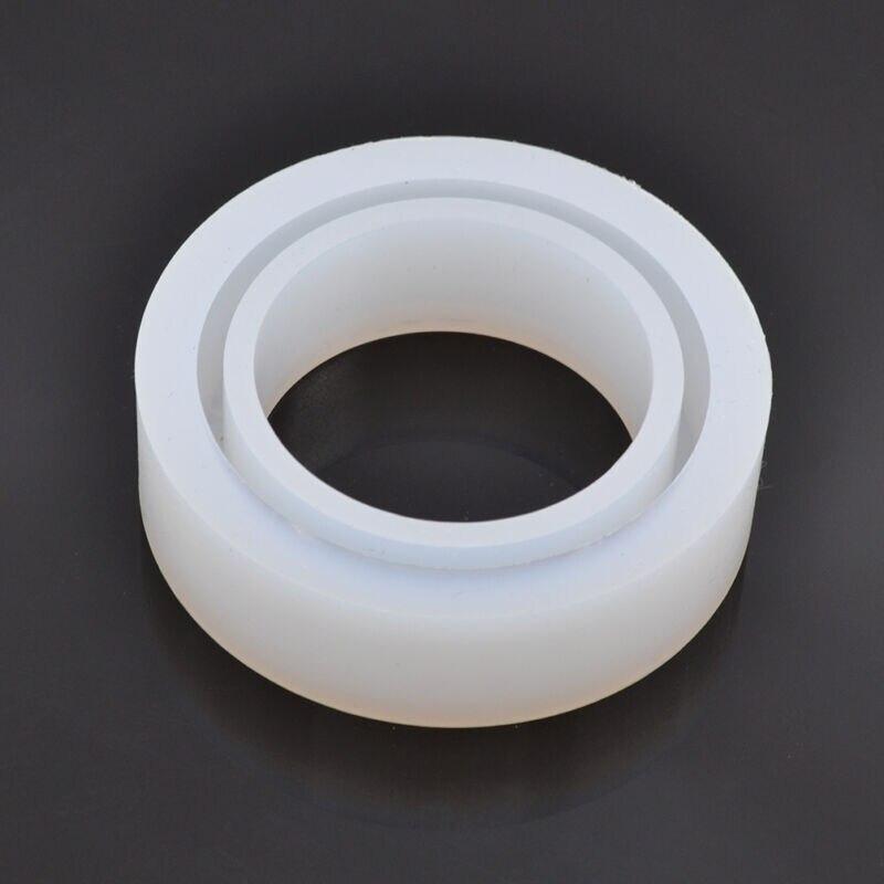 Molde de silicone redondo para resina curva pulseira pulseira jóias que faz diy