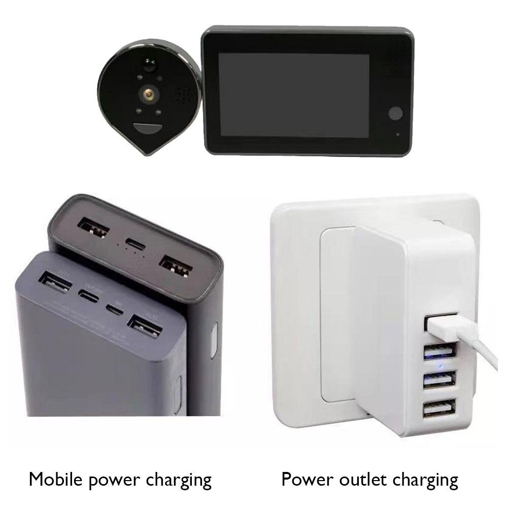 Door Peephole Viewer Wifi Video Doorbell Camera Night Vision PIR Motion Detection Smart Home APP Mobile Remote Control enlarge