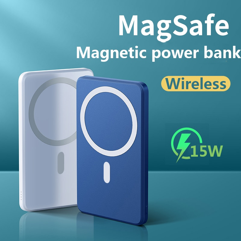 جديد 2021 بنك الطاقة 15 واط المغناطيسي شاحن لاسلكي سريع ل magsafe بطارية الهاتف المحمول آيفون 12 شاومي سامسونج 10000mAh