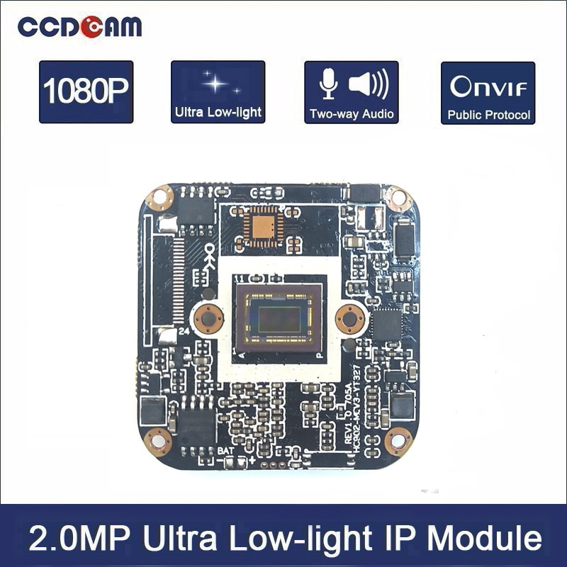 Камера видеонаблюдения CCDCAM, 1080 P, HD, 2 МП, IP, 1/2, 8 дюймов, CMOS IMX327 + Hisilicon 3516CV300, 2 МП