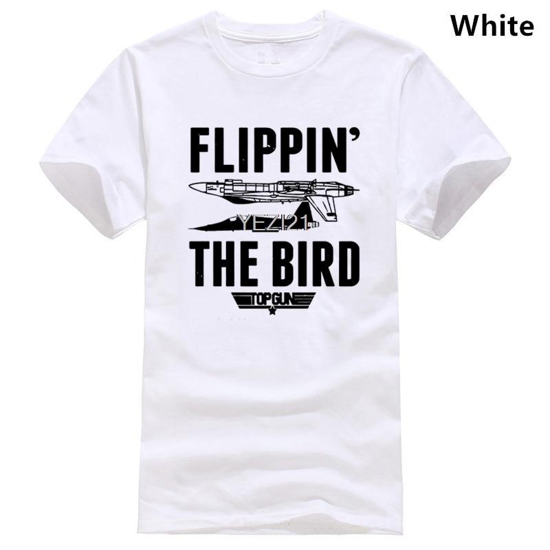 Flippin the bird-top gun filme tshirt tamanhos adultos-diversão lançando 80s tom cruzeiro maverick ganso iceman