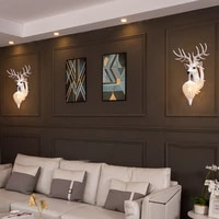 american retro wall lamps loft stairs corridor wall sconce light fixture house outdoor wall light antlers decor balcony lighting