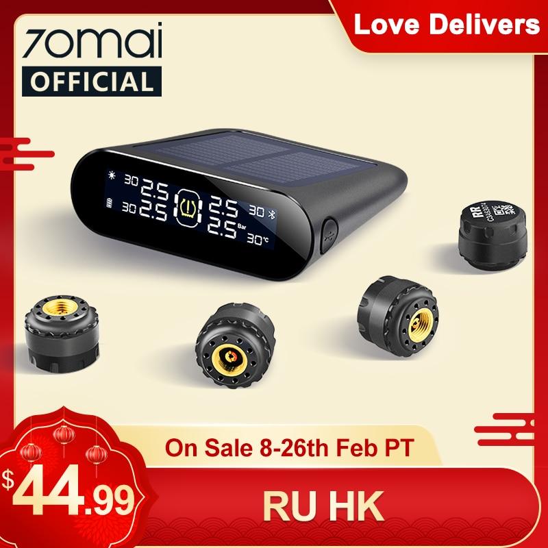 70mai Tire Pressure Monitor System Lite Smart Car TPMS Solar Power APP Control Auto Security Alarm S