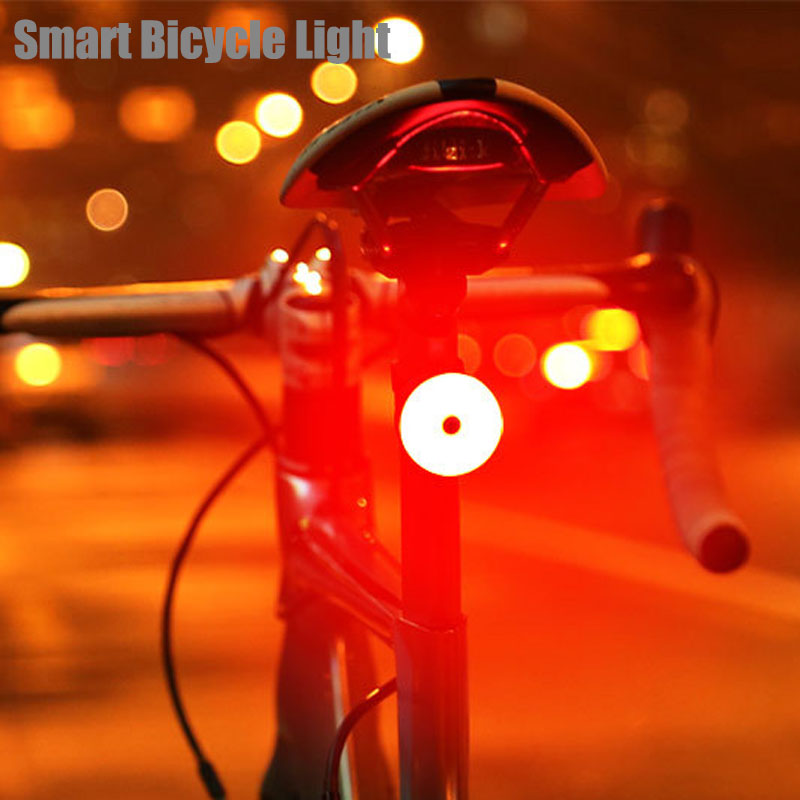 2021 Bicycle Light Multi Lighting Modes Smart Sensing IPx6 Waterproof LED Charging Cycling Taillight