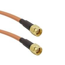 Prise mâle haute température 10-80CM SMA   Double blindage, plaque de câble Coaxial RF RG142 en cuivre avec de largent