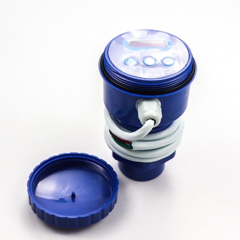 Sensor de nivel de tanque de agua potable de combustible ultrasónico de bajo costo 0-5m transmisor de nivel ultrasónico ce rohs atex
