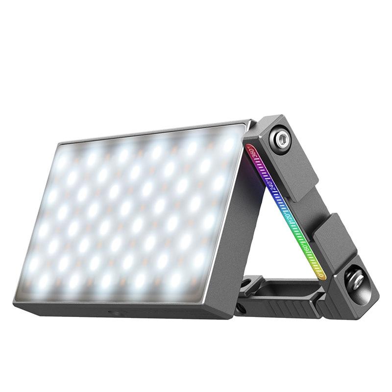 Viجيم-مصباح LED ملون بالكامل R70 ، 2700K-8500K RGB ، مع حامل قابل للتعديل ، ذراع سحري مثبت على الكاميرا ، شحن سريع