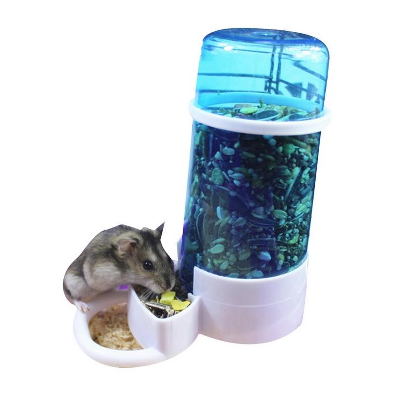 1 cuenco de alimentación automático hámster jaula para animales pequeños accesorios botella de agua comida para mascota pequeña dispensador recipiente de alimentación para mascotas