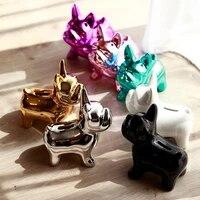 french bulldog coin bank box figurine home decoration coin storage box bracket toy children gift pig bank dog m88