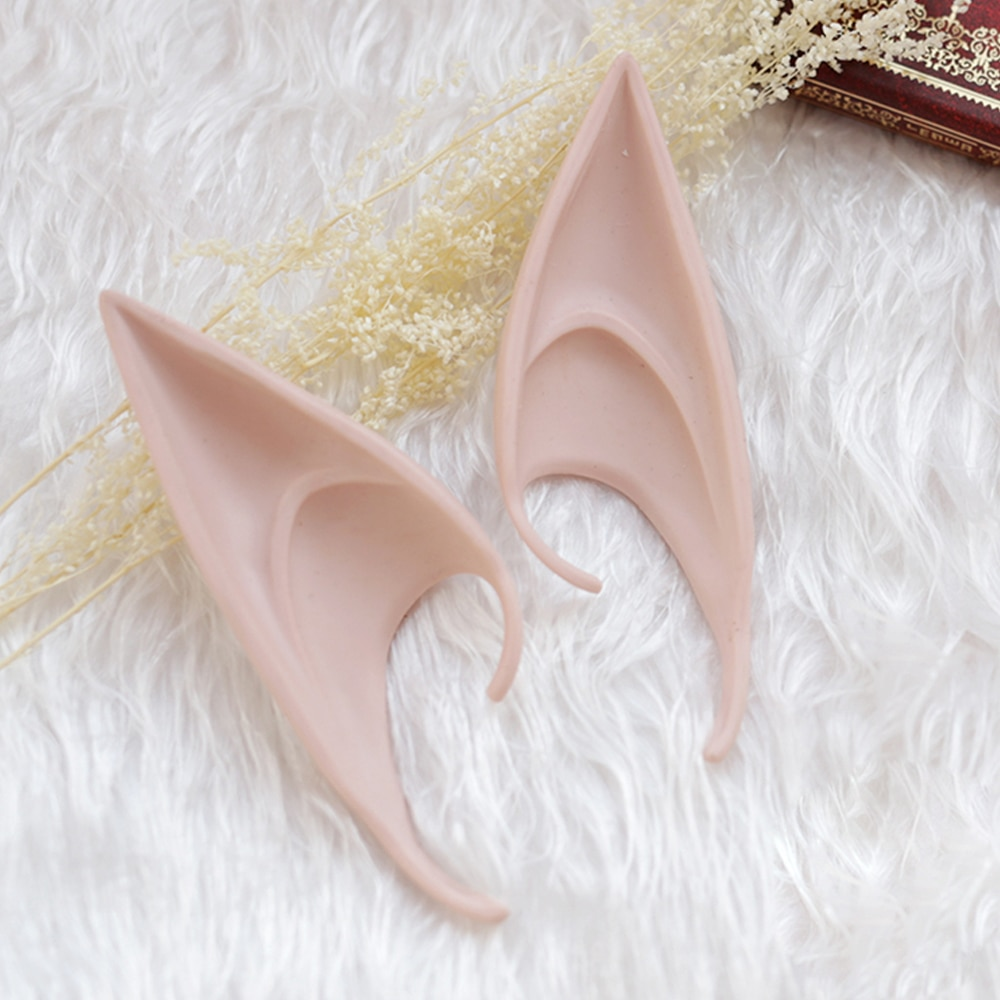 Mysterious Angel Elf Ears Latex Ears for Fairy Cosplay Costume Accessories Halloween Decoration Photo Props  Kids Toys