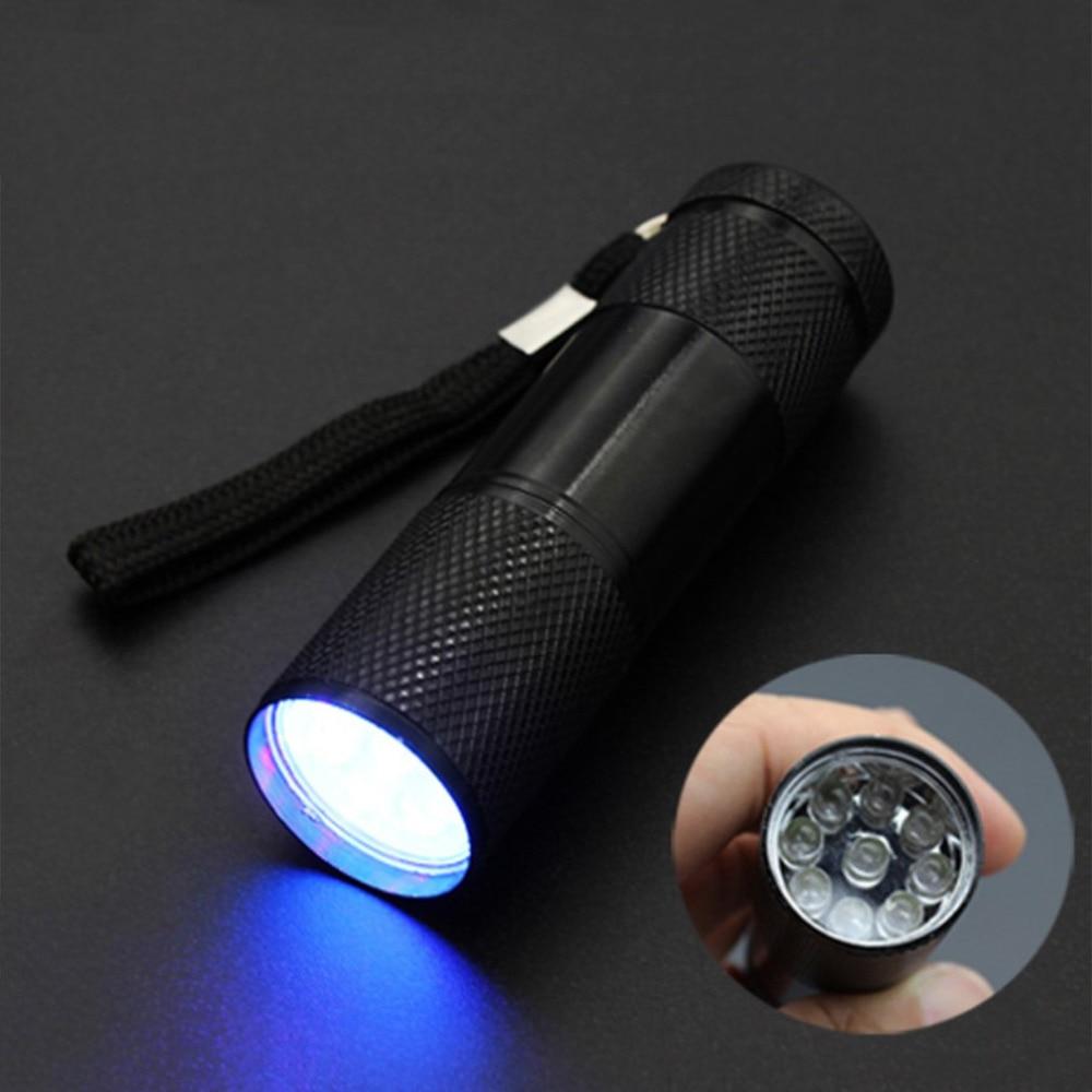Фото Портативный УФ вспышка светильник фонарь ультрафиолетовый черный лампа батарея