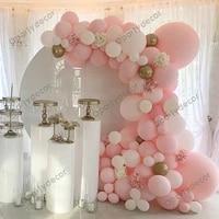 129pcs macaron pink blue balloon garland arch kit metal gold wedding birthday party decorations baby shower girl kids decoration