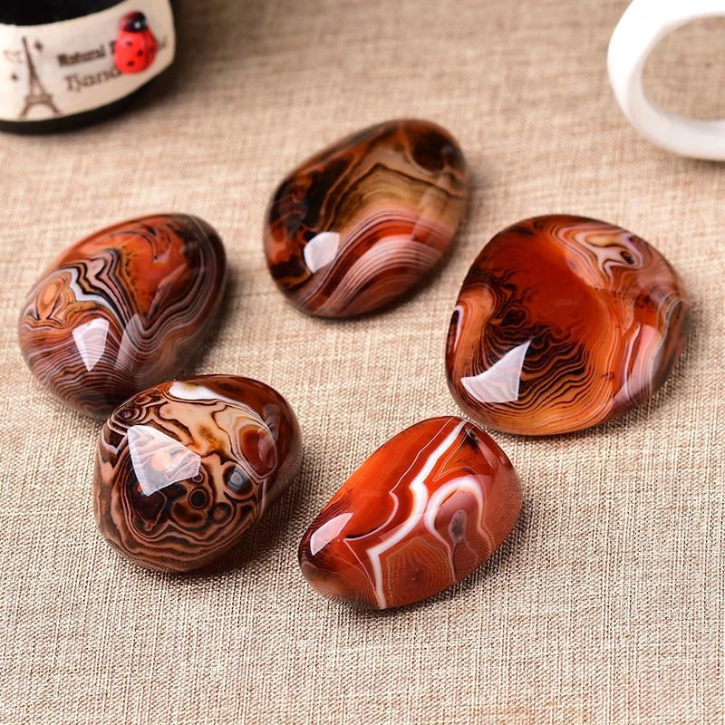 100% bolitas de piedra Natural ágata roja buena suerte Madagascar Ágata en bandas cuerpo sanador espécimen crudo espécimen de piedra preciosa regalos de colección