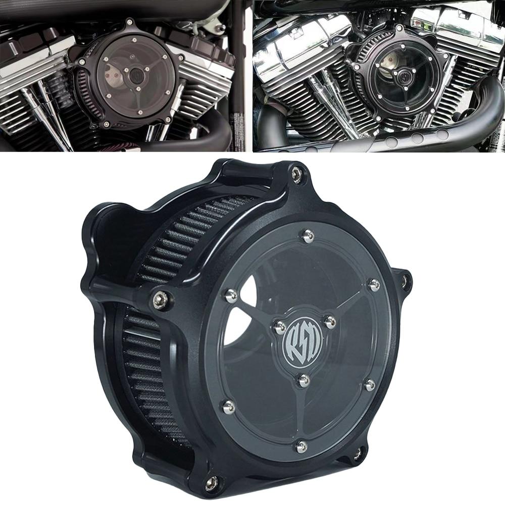 RSD-منقي الهواء ، منقي الهواء ، أسود غير لامع ، لـ Harley Sportster XL 48 883 1200 Dyna Softail Touring Fat boy Electra Glide