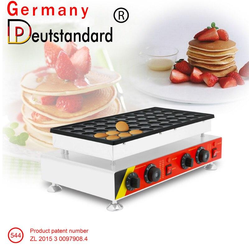 2019 50 agujeros Sandwich cake comercial galletas poffertjes holandeses parrillas mini panqueques waffle maker baker máquina de 220 v/110 v