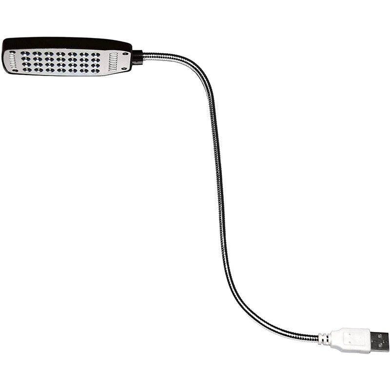USB Reading Lamp with 28 Bright LED Lights and Flexible for Laptop, Desktop, PC and MAC Computer Keyboard On/Off Switch (Black)