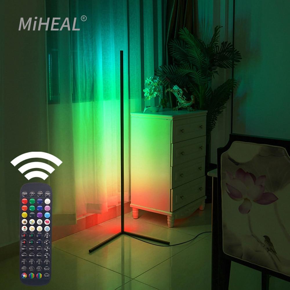 RGB LED Floor lamp Bedroom Bedside Decoration Floor Light Living Rom Art Decor Indoor Atmospheric Standing Stand Lighting