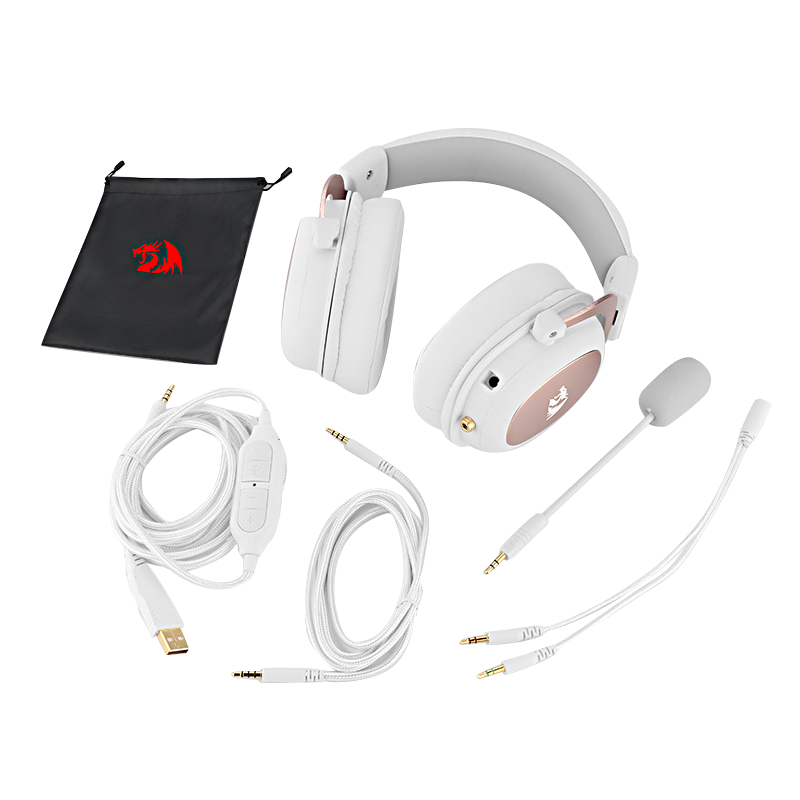 Redragon H510 Zeus Wired Game Headphone - 7.1 Surround Stereo - Memory Foam Ear Pad Removable Microphone For PC/PS4 and Xbox One enlarge