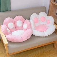 chair cushions cute cat paw shape plush seat cushions for home office hotel caf%c3%a9