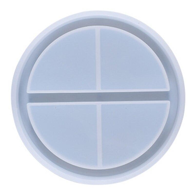 DIY эпоксидная смола, форма круглая подставка маленькие аксессуары лоток для хранения силиконовая форма