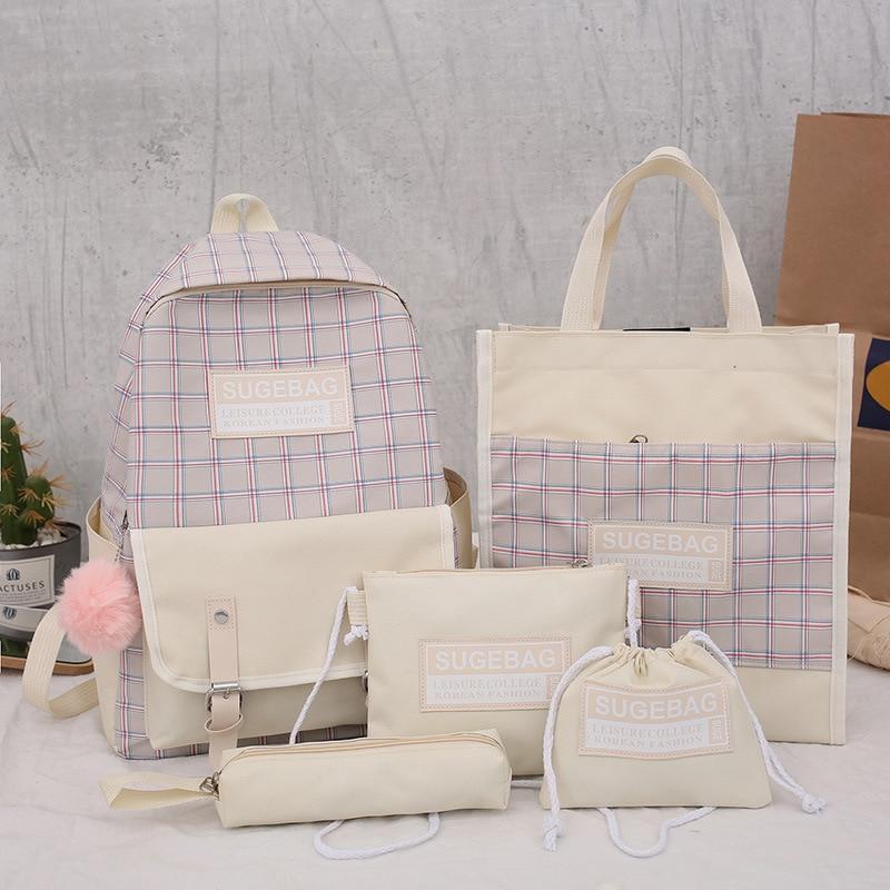 4 Set School Bags for Teenage Girls Kids Children Student Backpack Travel Teen Shoulder Bag Child Schoolbag New Women backpack