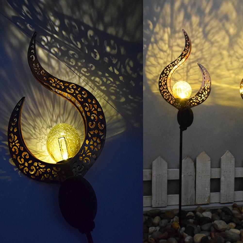 Solar LED Flame Light IP65 Waterproof Retro Iron Garden Lawn Lamp Outdoor Garden Landscape Decor Sun Moon Flame Lighting