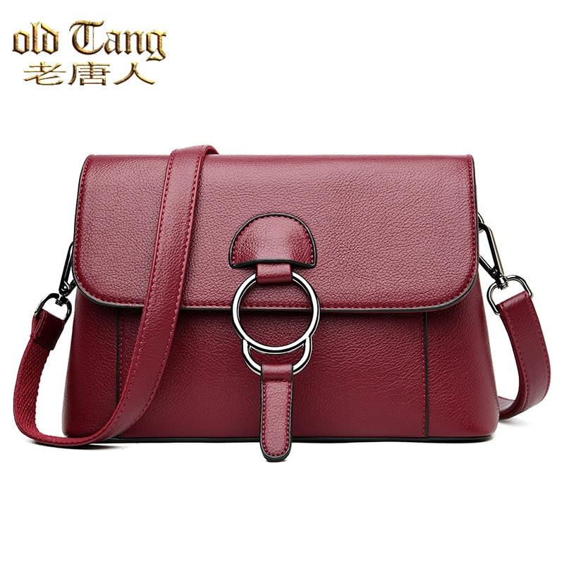 OLD TANG Famous Brand Luxury Women Shoulder Bags for Women 2021 Designer Leather Handbag Fashion Lad