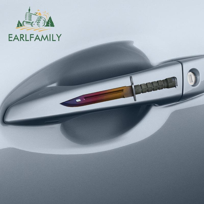 Earlfamily 13cm x 10cm para csgo baioneta faca pele personalidade decalque criativo van adesivos de carro adequado para todos os tipos de veículo