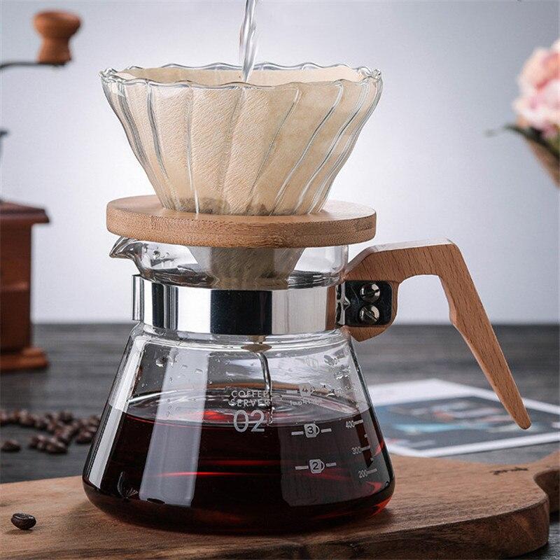 إبريق قهوة زجاجي إبداعي مقاوم للحرارة ، صانع قهوة إسبريسو ، غلاية شفافة ، إبريق ماء قابل للتسخين ، باريستا