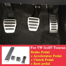 For VW Golf7 Touran Santana 2006-2020 dedicated Brake Pedal Accelerator Pedal Clutch Pedal Rest Pedal car accessories